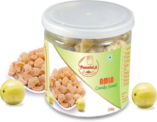 PANALALJI Dry Amla Candy ( Candied Indian Gooseberry, Amla, Delicious ) 250 gm Sweet Candy Sweet Candy