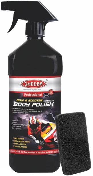 sheeba Liquid Car Polish for Leather, Tyres, Metal Parts, Headlight, Exterior