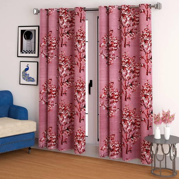 CHHAVI INDIA 150 cm (5 ft) Polyester Window Curtain (Pack Of 2)
