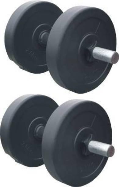 lifecare products 10 kg dumble set ( 2.5 kg 4 pvc plate ) best home gym set. Gym & Fitness Kit