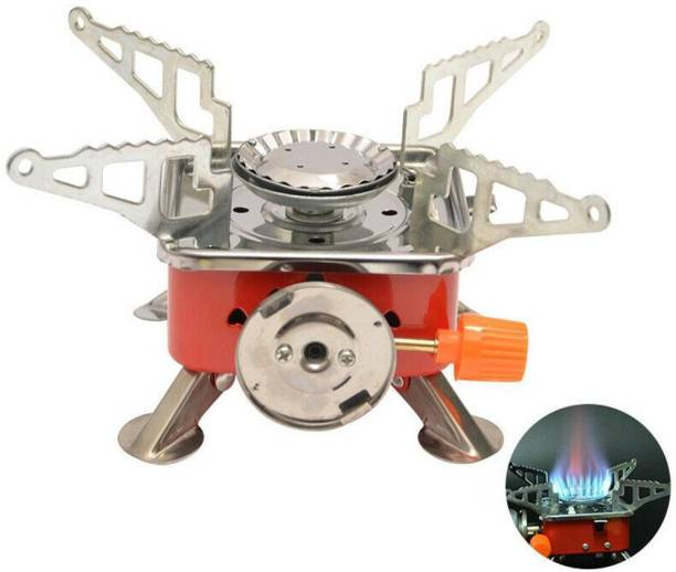 ZURU BUNCH Outdoor Mini Gas Stove Stainless Steel Camping Butane Gas Stove Foldable Burners Picnic Cooking Furnace with Storage Bag for Picnic, camping, hiking, Stainless Steel Manual Gas Stove