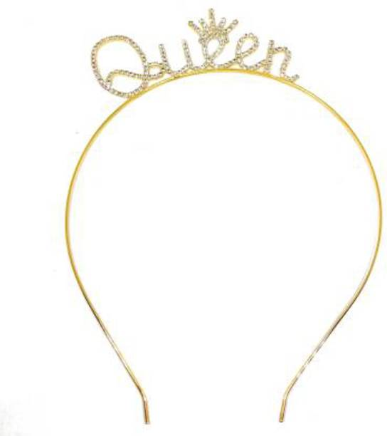NANDANA COLLECTIONS Queen Hair Band for Hair Styling Wedding Party Celebrations Hair Band
