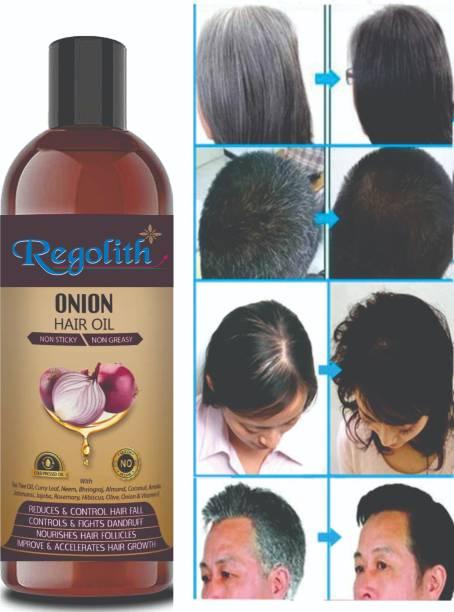 Regolith Onion Hair Oil with 14 Essential Oils, Onion Hair Oil For Hair Growth For Specially Men & Women Hair Oil
