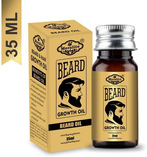 Meralite Advanced Beard Growth Oil for Men - (Almond & Thyme) for Beard Growth Hair Oil