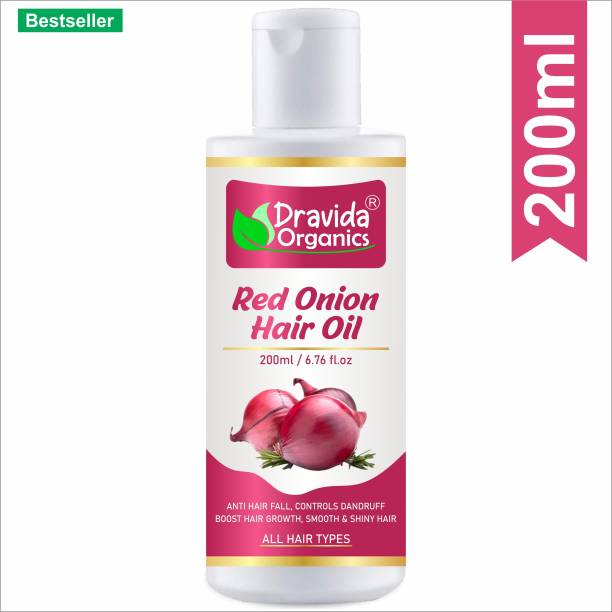 Dravida Organics Onion Oil for Hair Regrowth Hair Oil