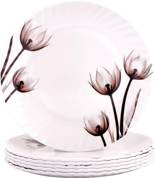 """ONEX IVA Dinner Plate 11"""" Black Rose Dinner Plate"""