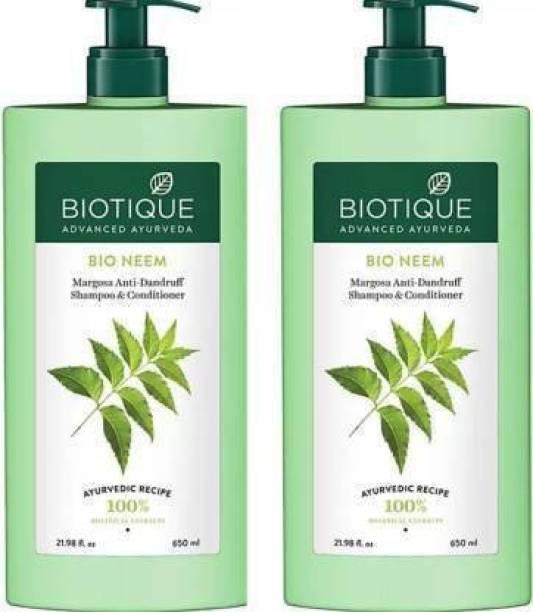 BIOTIQUE BIO Neem Margosa Anti Dandruff control Shampoo and conditioner