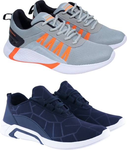 BIRDE Combo Pack of 2 Sports Shoes Running Shoes For Men