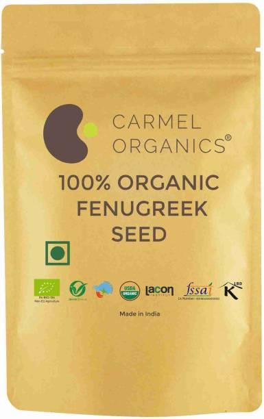 CARMEL ORGANICS Organic Fenugreek Seeds/Methi Seeds Whole