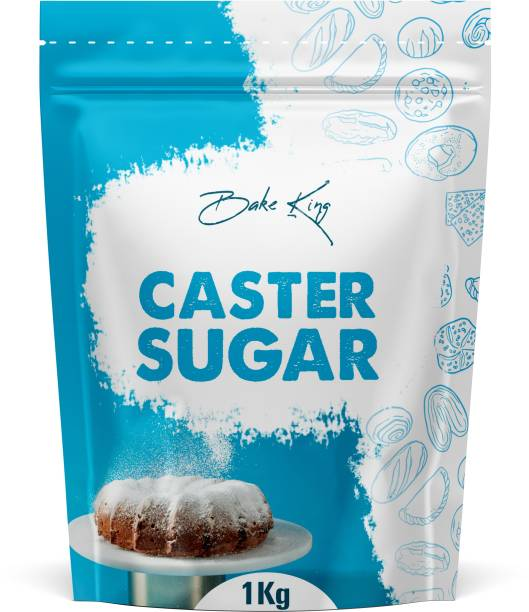 Bake King 1000gm Speciality Castor Caster Sugar Chini for Baking Confectioners Breakfast, Natural Sulphurless Pure White Sugar Powdered Sugar