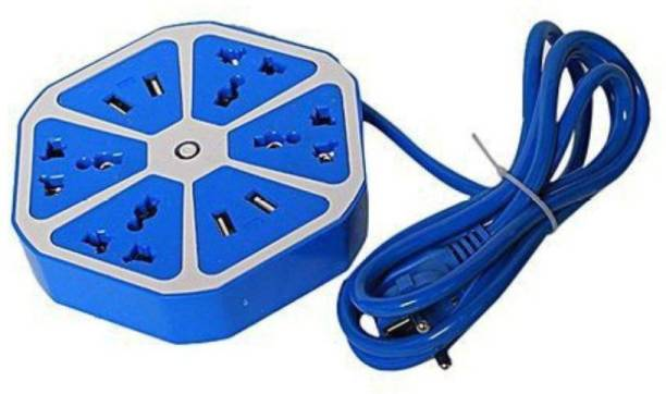 BUY SURETY High Quality Multiplug Sockets for Multiple Devices Use for Home/Office, Hexagon Socket Multipurpose Extension Board with 4 USB charging point 4 Socket 4  Socket Extension Boards