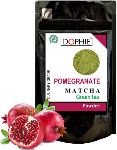 dophie Pomegranate Matcha Green Tea Powder 150g [PACK-1] Culinary Grade - Rich in antioxidants help two time fast weight loss, boost metabolism and Immunity. Pomegranate Matcha Tea Pouch