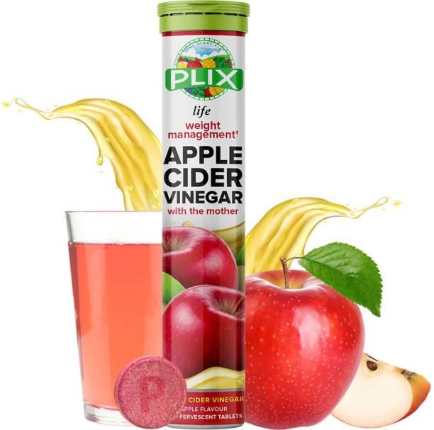 Plix World's First Apple Cider Vinegar -15 Effervescent Tablets