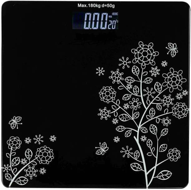 Sasimo 6 mm Automatic Personal Digital Weight Machine Heavy Duty Electronic Thick Tempered Glass LCD Display Square Electronic Digital Personal Bathroom Health Body Weight Bathroom Weighing Scale, weight bathroom scale digital, Bathroom Health Body Weight Scales For Body Weight, Weight Scale Digital For Human Body, Weight Machine For Body Weight Weighing Scale Weighing Scale (Black) Weighing Scale