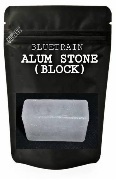 BLUE TRAIN Alum Stone Block for Shaving |Skin (Fitkari)