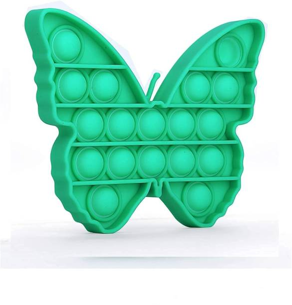 VIBOTON Fidget Toys, Push Bubble Fidget Sensory Toy,Autism Silicone Stress Relief Toy,Great Fidget Toy Sensory Toys Novelty Gifts for Girls Boys Kids Adults (Green Butterfly) Bath Toy