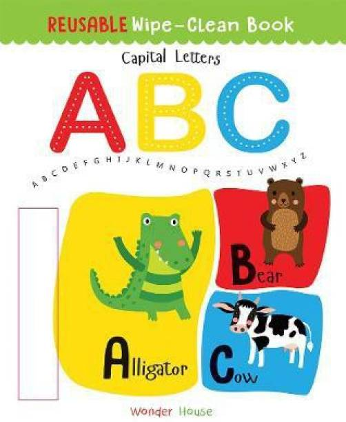 Reusable Wipe and Clean Book - Capital Letters - By Miss & Chief