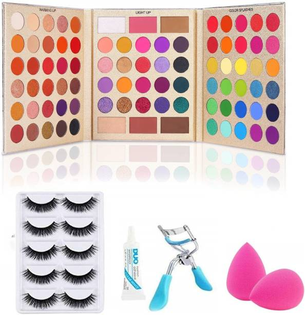 D.B.Z. Pretty All Set Eyeshadow Palette Set Pro 86 Colors Makeup Kit Matte Shimmer Eye Shadow Highlighters Contour Blush Powder All In One Makeup Pallet & makeup tools