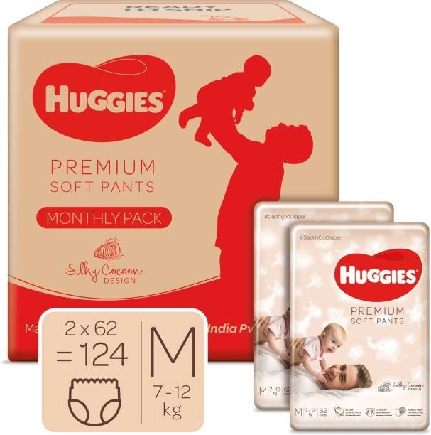 Huggies Premium Soft Pants Monthly Pack 360� softness with Bubble Bed Technology - M