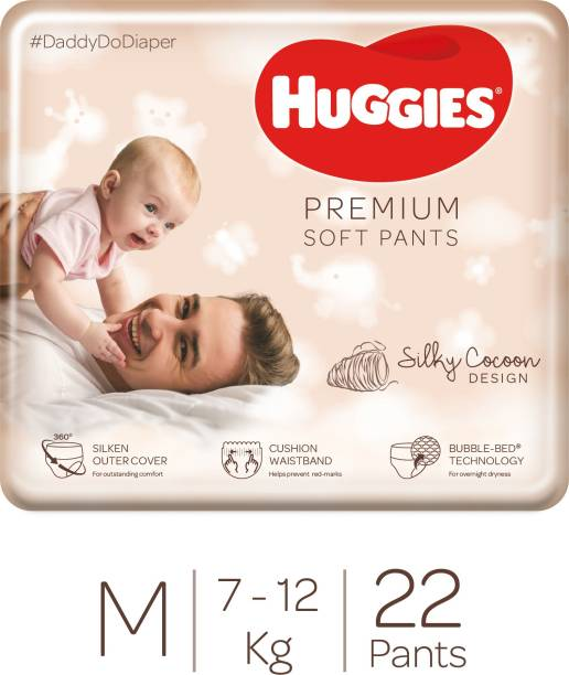 Huggies Premium Soft Pants 360� softness with Bubble Bed Technology - M