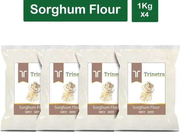 Trinetra Best Quality Sorghum Flour / Jowar Atta 1Kg Pack of 4