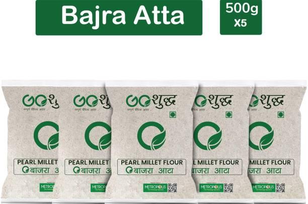 Goshudh Premium Quality Bajra/Pearl millet Atta/Flour 500g Combo Pack Of 5