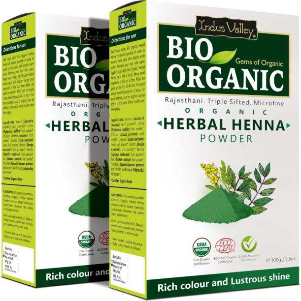 Indus Valley Pack of 2- Bio Organic Herbal Henna Powder