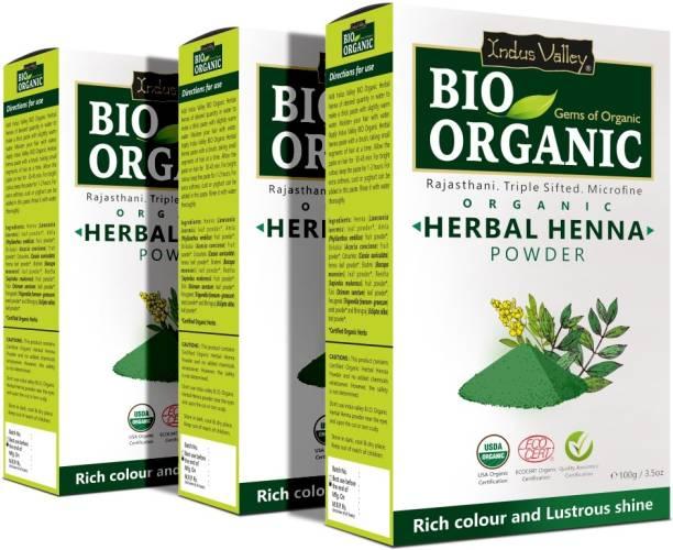 Indus Valley Set of 3- Bio Organic Herbal Henna Powder