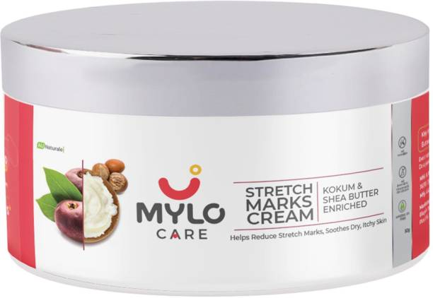 MYLO CARE Stretch Marks Cream for Pregnancy with the Goodness of Shea Butter, Saffron, Kokum Butter and Aloe Vera, Australia Certified Toxin Free, No Mineral Oils