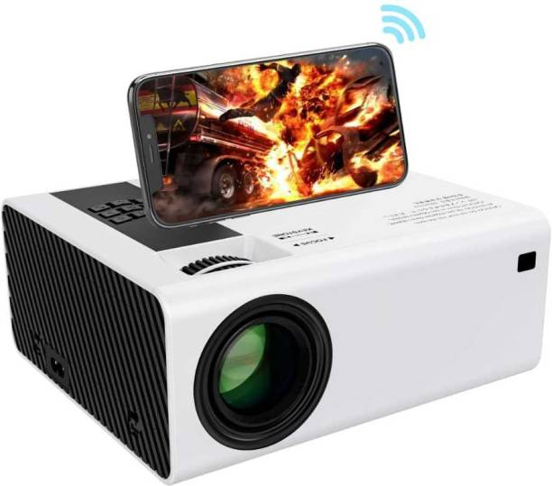 IBS BEST QUALITY PS4 GAMING FullHD 1080P Supported Projector, Bluetooth, AV/TV, USB, SD, VGA, HDMI, Miracast, Inbuilt YouTube Home Cinema BUILD IN HIGH SOUND SPEAKER Portable Projector
