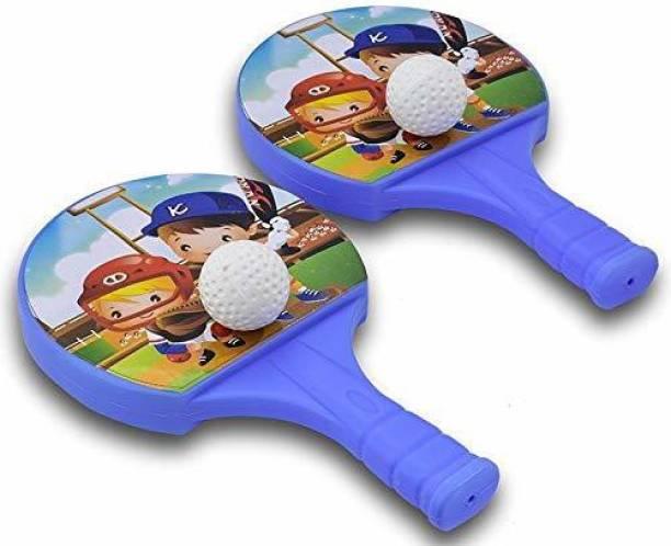 DIKUJI ENTERPRISE Table Tennis Badminton Plastic Racquet Ball Toy Badminton Racquet Multicolor Table Tennis Blade Table Tennis Kit