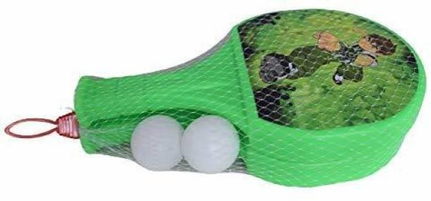 Vasoya Enterprise sport accessories for kids, table tennis badminton plastic racquet set with ball (random pattern,colour)- Multi color Table Tennis Kit