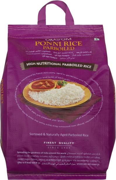 OMSOM Ponni rice parboiled Ponni Rice (Medium Grain, Parboiled)