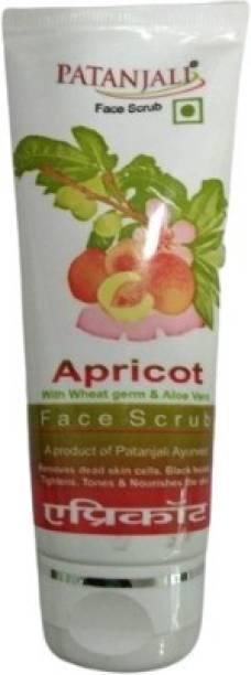 PATANJALI Apricot Face Scrub 60g - Pack of 2 Scrub