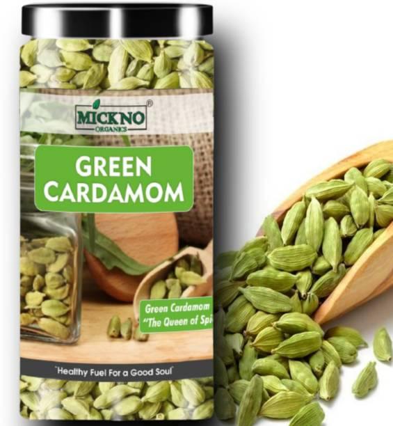 mickno organics 50g Green Cardamom Seeds ( Choti Elaichi ) - Premium Bold Quality