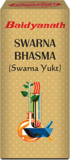Baidyanath Swarna Bhasma- Made with Pure Gold | Improves Overall Natural Functions in the Body | Helpful in Fatigue and Weakness |