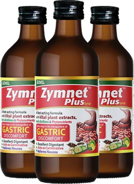 AIMIL Zymnet Plus Syrup for Digestive Health & Acidity | Relieves Gastric Discomforts | Abdominal Pains & Nausea