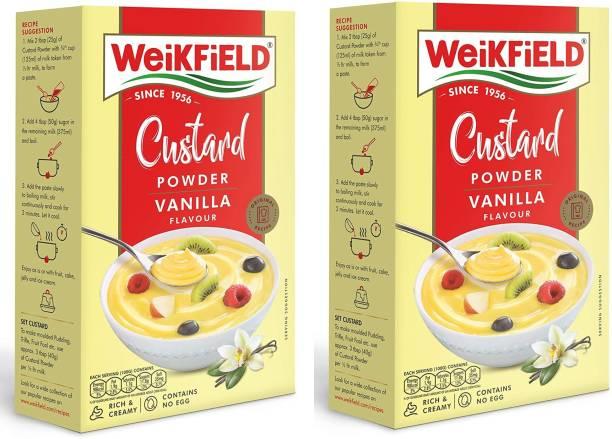 WeiKFiELD Custard Powder Vanilla Flavour 100 Gram Pack Of 2 Custard Powder