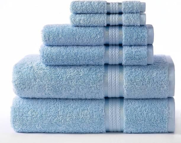AKIN Cotton 580 GSM Bath, Hand, Face Towel Set