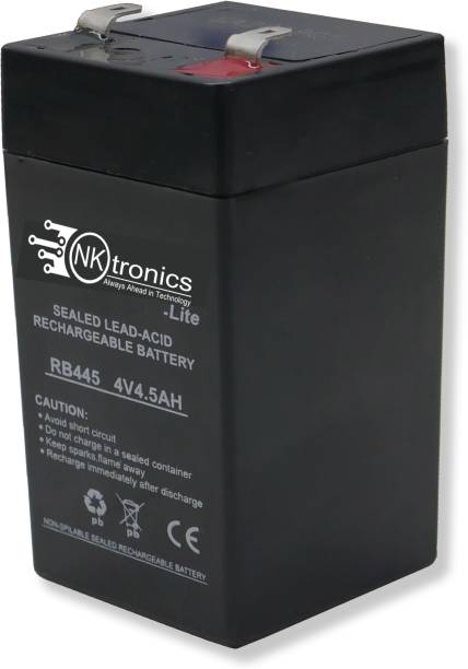 Nktronics 4 volt 4.5amp lead acid sealed type high perfomance battery for Toy car and bike  Battery