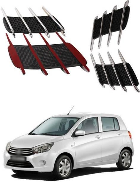 XZRTZ Car Side Airflow Grille, 2X Chrome Car Auto Bonnet Air Intake Flow Side Fender Vent Hood Scoop Cover (Silver + Black) A163 Matte, Glossy, Chrome Maruti Celerio Side Garnish