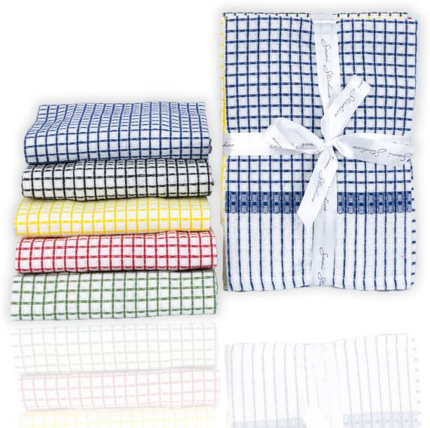 SAMI STUDIOS Elegant Waffle Kitchen Towel / Dining Towel / Napkin / Cleaning Cloth / Kitchen Waste Cloth Multicolor Napkins Pack Of 5 – Machine Washable & Easy Care – 40 x 60 cms Large Sized – All Purpose Cleaning Towel for everyday use Wet and Dry Cotton Cleaning Cloth