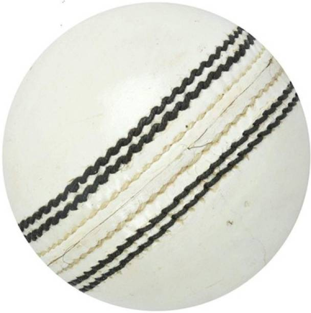 ADSR SPORTS White Cricket Leather Ball 4 Panel Standard Bail