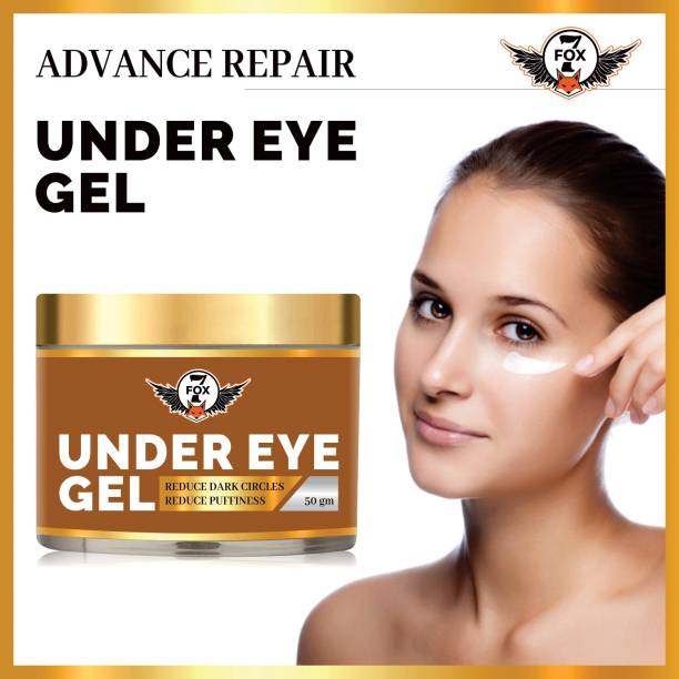 7 FOX Premium Under Eye Gel to Reduce Dark Circles, Puffiness and Fine Lines Enriched with Aloe vera, Rose Extract & Vitamin E -