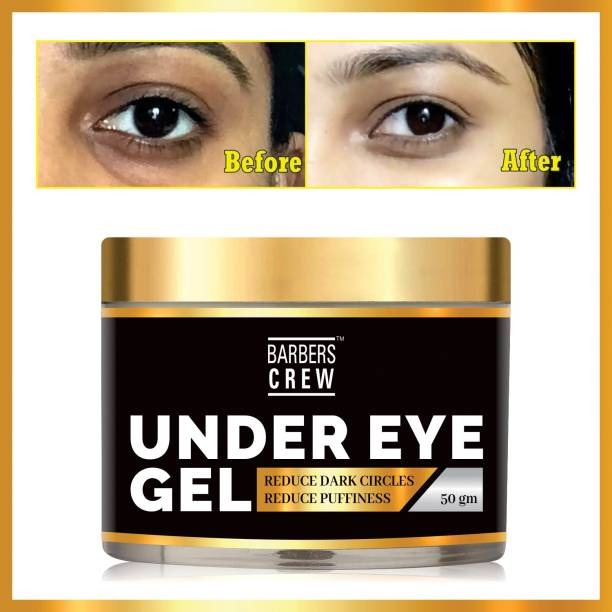 Barbers Crew Premium Under Eye Gel to Reduce Dark Circles, Puffiness and Fine Lines Enriched with Aloe vera, Rose Extract & Vitamin E -