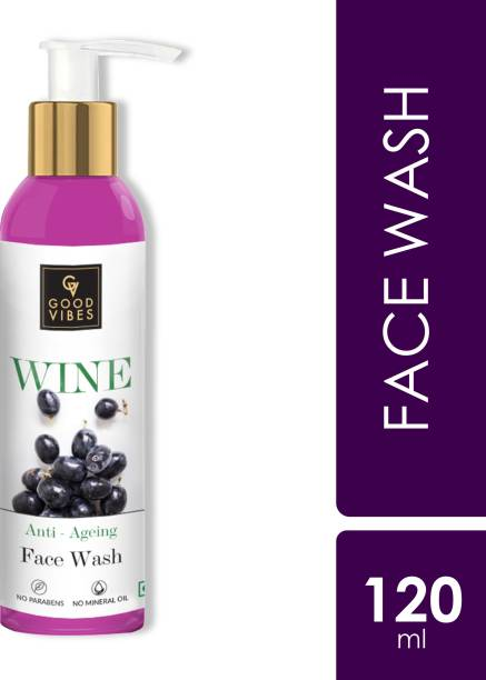GOOD VIBES Anti - Ageing  - Wine (120 ml) Face Wash