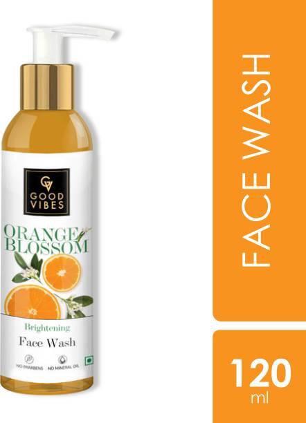GOOD VIBES Skin Brightening Orange Blossom  (120 ml) Face Wash