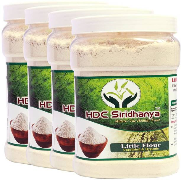 HDC SIRIDHANYA (Unpolished & Organic) Natural Grains Little flour (1kg Per Pack) Pack of (4 Kg)