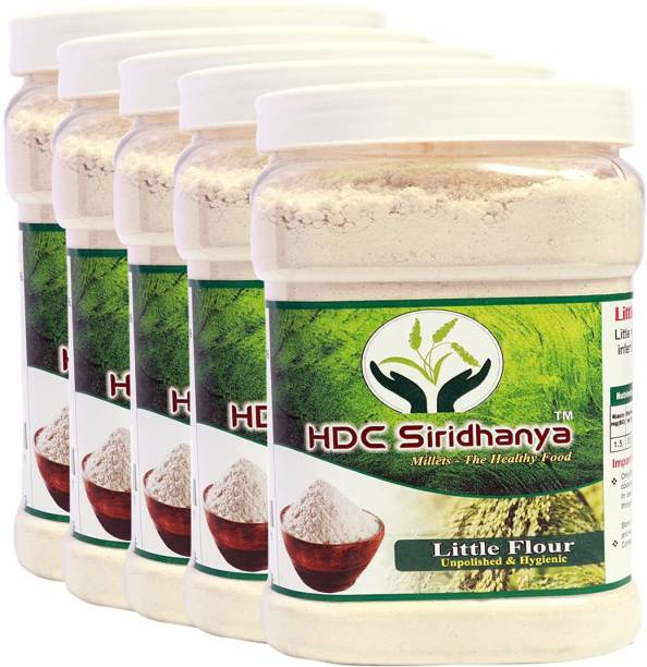 HDC SIRIDHANYA (Unpolished & Oganic) Natural Grains Little flour (1kg Per Pack) Pack of (5)