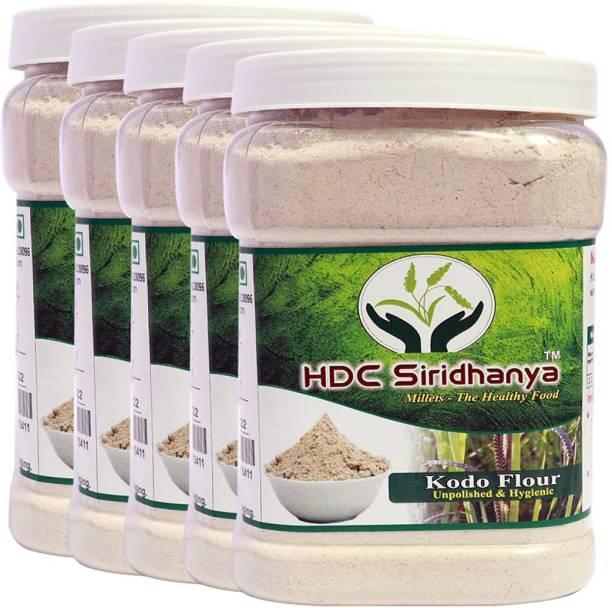 HDC SIRIDHANYA (Unpolished & organic) Natural Grains Kodo flour combo pack (1kg Per Pack) Pack of (5 Kg.)